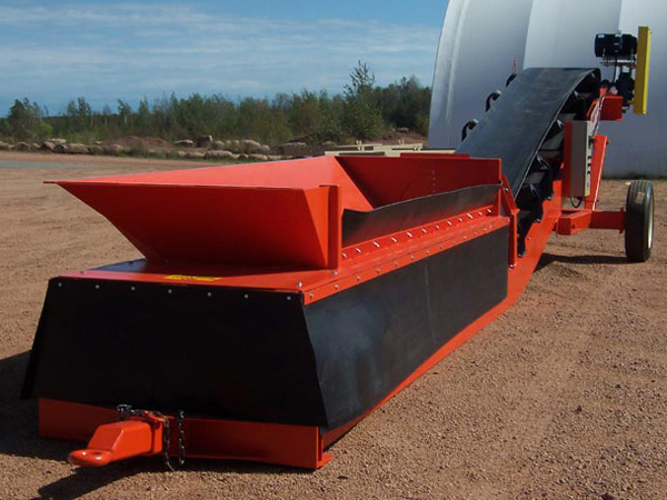 Portable Truck Unloading Hopper : Rail truck barge loading and unloading conveyors sand