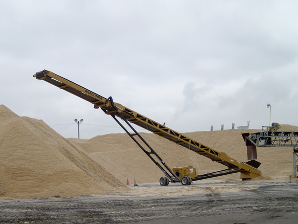 Radial Stacking Conveyors Sand Science Inc